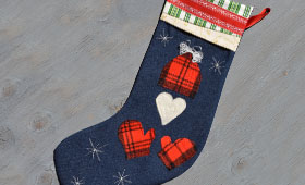 Christmas stockings by frances felt